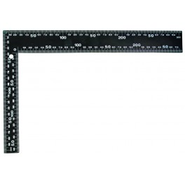 Úhelník černý, 600 x 400 mm, 14411