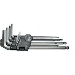Sada imbus klíčů, 9-dílná, 1.5-10 mm, s kuličkou, CrVa, Festa, F18492