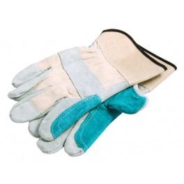 Rukavice kožené, zesílené, podšívka v dlani, velikost 10,5, F50519