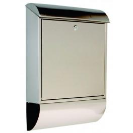 Poštovní schránka, 360 x 520 x 100 mm, nerezová, P70107