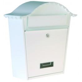 Poštovní schránka, 370 x 364 x 134 mm, bílá, P70108