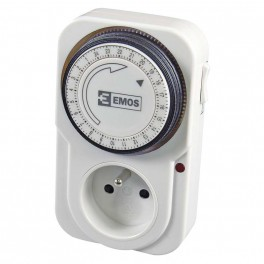 Časovač - mechanická spínací zásuvka TS-MD3, P5502, EM-P5502