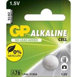 Alkalická knoflíková baterie, GP LR44, A76F, 1 ks, blistr, B1376, EM-B1376