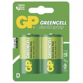 Zinkochloridová baterie, GP Greencell, R20, D, 2 ks blistr, B1241, EM-B1241