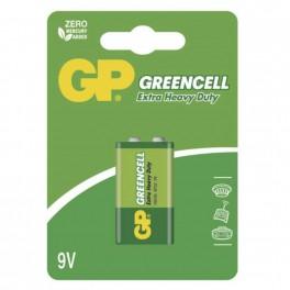 Zinkochloridová baterie, GP Greencell, 9 V, 1 ks blistr, B1251, EM-B1251