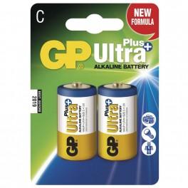 Alkalická baterie, GP Ultra Plus, LR14, C, 2ks blistr, B1731, EM-B1731