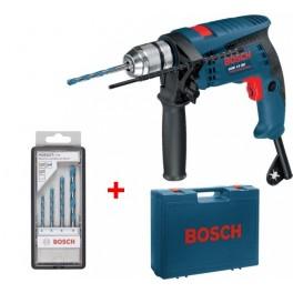 Elektrická příklepová vrtačka, 600 W, GSB 13 RE Professional, sada vrtáků, kufr, Bosch, 0.601.217.103