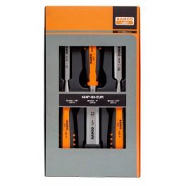 Sada dlát, 3-dílná, 12, 18, 25 mm, Bahco, 424P-S3-EUR