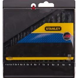 Sada vrtáků do kovu, 19-dílná, HSS, Stanley, STA56025