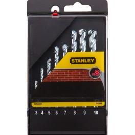 Sada vrtáků do zdiva, 8-dílná, tvrdokov, Stanley, STA56040