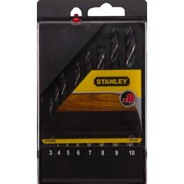 Sada vrtáků do dřeva, 8-dílná, Stanley, STA56006