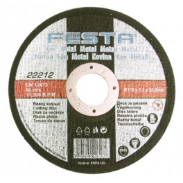 Řezný kotouč na kov, 125x1.2x22.2 mm, Festa, RO125/1.2F