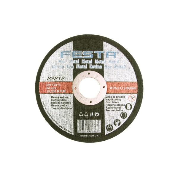 Řezný kotouč na kov, 125x2.5x22.2 mm, Festa, RO125F