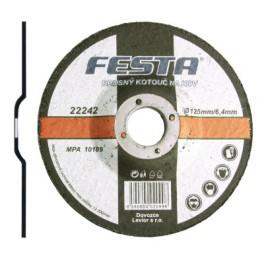 Brusný kotouč na ocel, 125x6,4 mm, Festa, BO125F