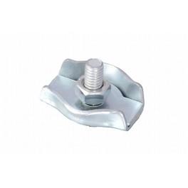 Lanová spojka, jednoduchá, 2 mm, zinkovaná, DIN5685 C, F51335