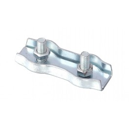 Lanová spojka dvojitá, 2 mm, zinkovaná, DIN 5685 C, F51342