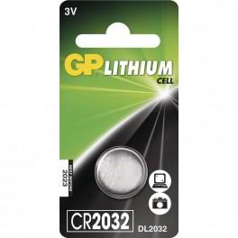 Lithiová knoflíková baterie GP CR2032, blistr, B15322, EM-B15322