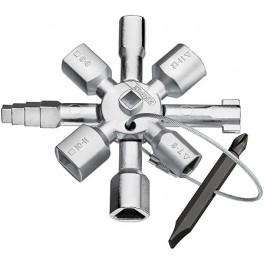 Univerzální klíč, TwinKey® pro běžné skříně a systémy zavírání, Knipex, 0011-01