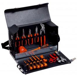 Sada nářadí pro elektrikáře v kožené brašně, 16-dílná, TS100 + 4750-FOLTC-1, Bahco, 982000170