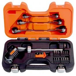 Sada ráčnového šroubováku s klíči, 25-dílná, Bahco, 808050P-25