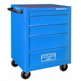 Vozík na nářadí, prázdný, 5 zásuvek, 677 x 501 x 950 mm,  modrý RAL5002, Bahco, 1470K5BLUE