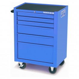 Vozík na nářadí, 954 x 677 x 501 mm, 6 zásuvek, prázdný, modrý RAL5002, Bahco, 1470K6BLUE