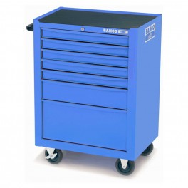 Vozík na nářadí, 954 x 677 x 501 mm, 7 zásuvek, prázdný, modrý RAL5002, Bahco, 1470K7BLUE