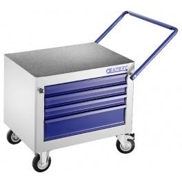 Pojízdná skříňka na nářadí, 4 zásuvky, 3 moduly na zásuvku, 720 x 500 x 650 mm, Expert, E010154