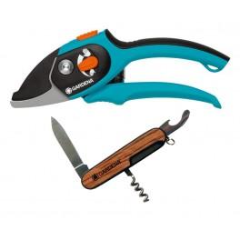Akční nabídka do vyprodání! Zahradnické nůžky Comfort + kapesní nůž, Gardena, G8790-29
