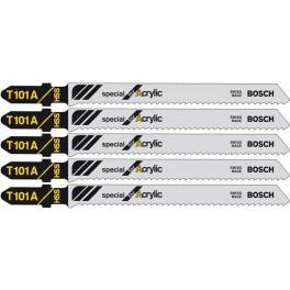 Pilový list do přímočaré pily, Special for Acrylic, T101A, 5 ks, Bosch, T101A