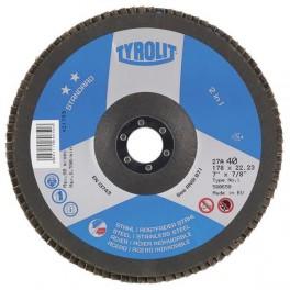Lamelový kotouč, Standart, 125 x 22,2 mm, zrno 60, Tyrolit, EX125AZ60