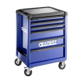 Pojízdná montážní skříň, 6-zásuvková, bez vybavení, 970 x 748 x 515 mm, Expert, E010192