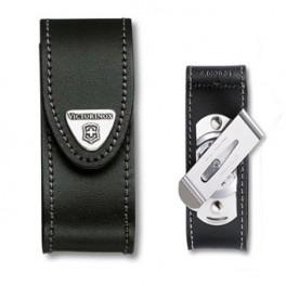 Kožené pouzdro s klipem, černé, Victorinox, 4.0520.31