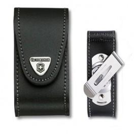 Kožené pouzdro s klipem, černé, Victorinox, 4.0521.31