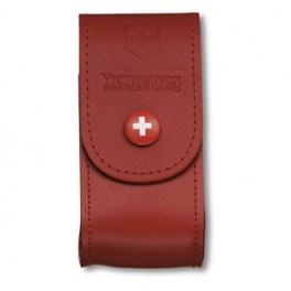 Kožené pouzdro na nůž, červené, Victorinox, 4.0521.1