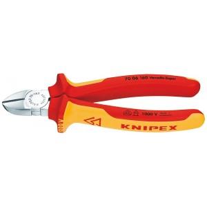 Boční štípací kleště, 160 mm, elektrikářské, VDE, Knipex, 7006-160