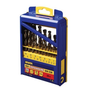 Sada vrtáků titanových, 19-dílná, 1.0-10.00,  v kovové krabičce,  728KV19, 10502603, 728KV19