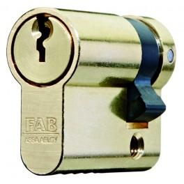 Cylindrická vložka 101RS, jednostranná, 29 + 10 mm, 3 klíče, mosaz, FAB, FAB101RSD/29+10