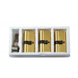 Sada vložka 3 x 200RSD 29-35 mm + 6 společných klíčů, mosaz, FAB, FAB200TRIO