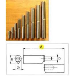 Závěs k přivaření, 100 x 14 mm, čep 8 mm, F1, 080204
