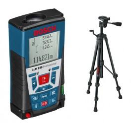 Laserový dálkoměr GLM 150 + pouzdro + stativ BT 150, Bosch, 0.601.072.000