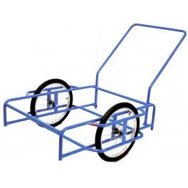 """Vozík (dvoukolák) GOLEM, kola 16"""", komaxit, 1030x1110x260 mm, nosnost 100 kg, GOLEM"""