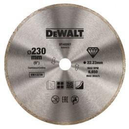 Diamantový kotouč, 230 x 22,23 mm, celoobvodový, DeWALT, DT40207