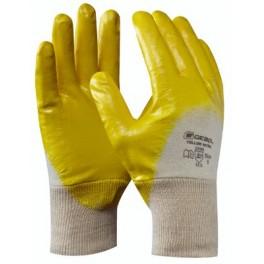 Pracovní rukavice Yellow Nitrile, velikost 9, GE709509