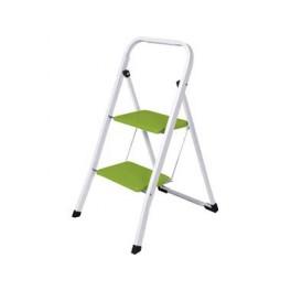 Skládací schůdky, 2 schody, ocelové, zelené, 1219581