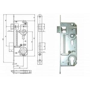 Zámek zadlabací vložkový 63 mm 02-06 P/L, 90/60 Zn, HOB02-06