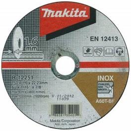 Řezný kotouč na nerez, 115 x 1,6 x 22,23 mm, Makita, B-45755