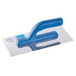 Hladítko nerezové, 280 x 130 mm, zub 4 mm, F31021