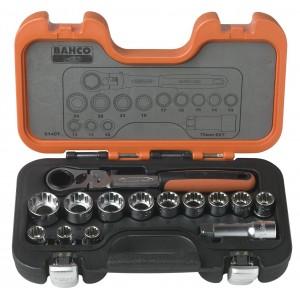 """Gola sada, 14-dílná. 1/2"""", průchozích nástrčných klíčů, Bahco, S140T"""