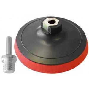 Podložný talíř 125 mm, suchý zip, závit M14, stopka, Magg, PT125STOPKA